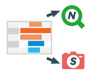 Export, NPrinting, and snapshots in a Qlik Sense Gantt chart