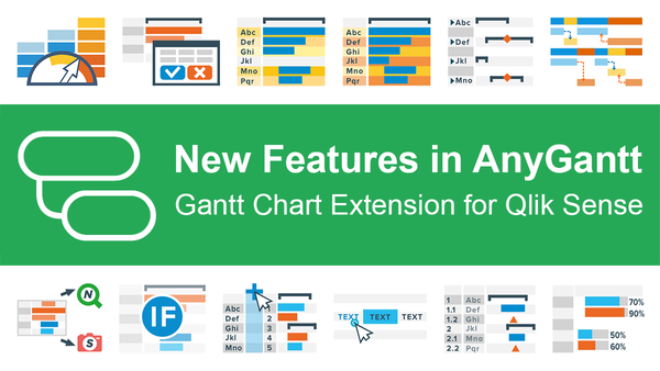 Try Updated AnyGantt Extension for Qlik Sense with New Stunning Features